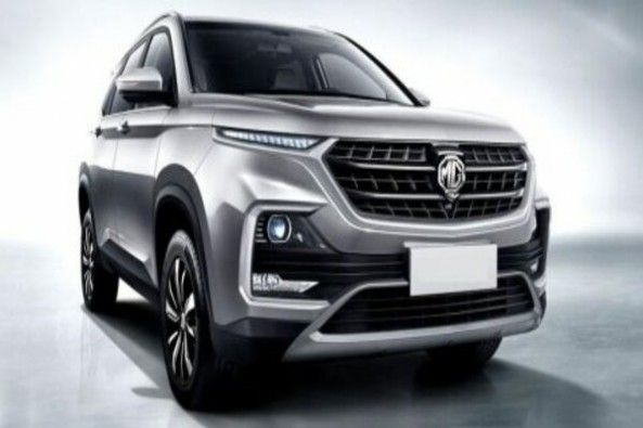 Steel Grey MG Hector Front Profile
