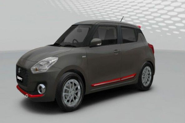 Black Color Maruti Suzuki Swift Side Profile