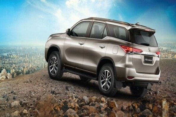 Grey Toyota Fortuner Rear Profile
