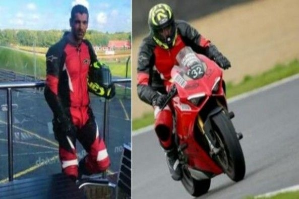 John Abraham in Riding Gear Driving Ducati Panigale