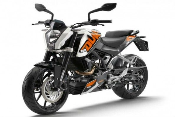 KTM Duke 200 Front Profile