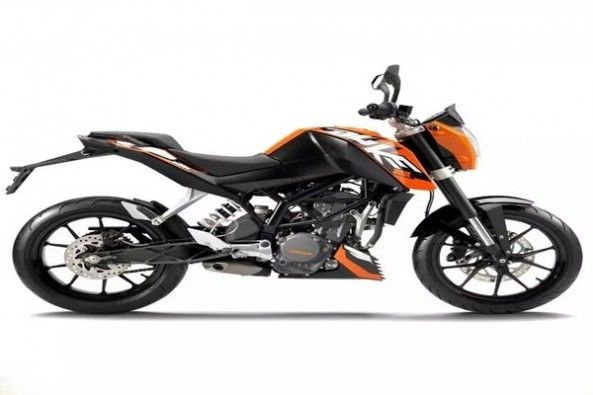 KTM Duke 200 Side Profile