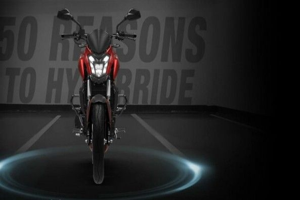 Red and Blaack Bajaj Dominar Front Profile