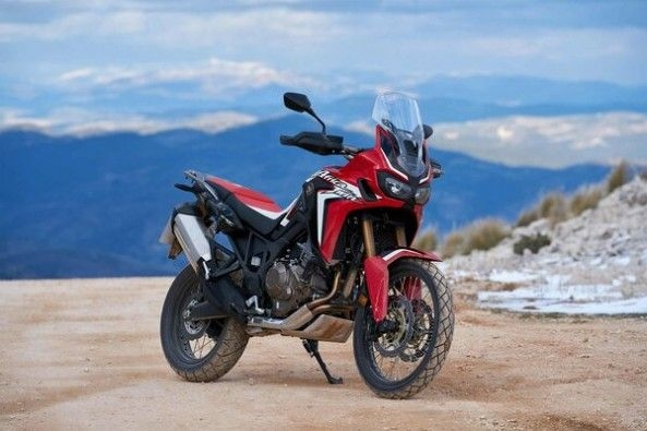 Red Color Honda Africa Twin Front Profile