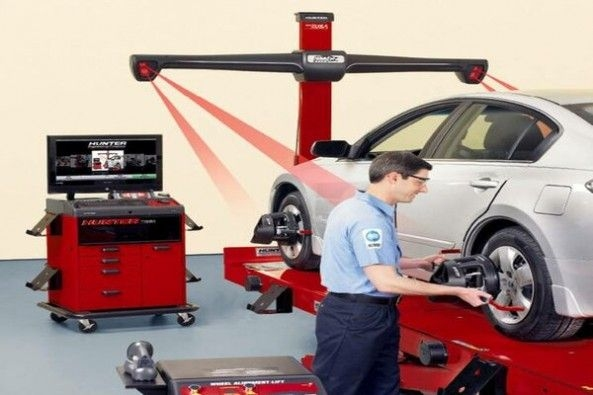 Wheel Alignment on Car