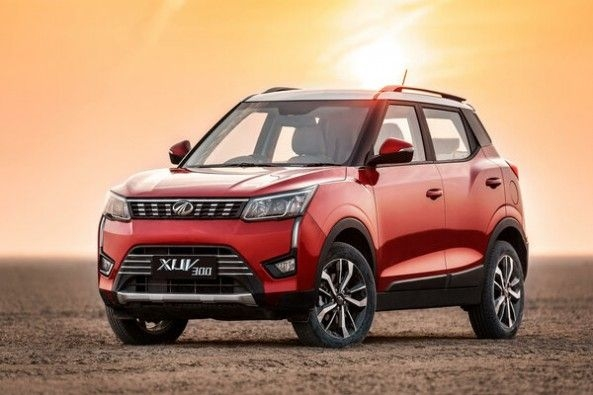 Red Color Mahindra XUV300 Front Profile