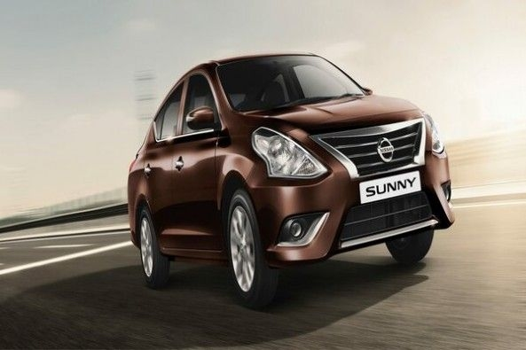 Brown Color Nissan Sunny Front Profile