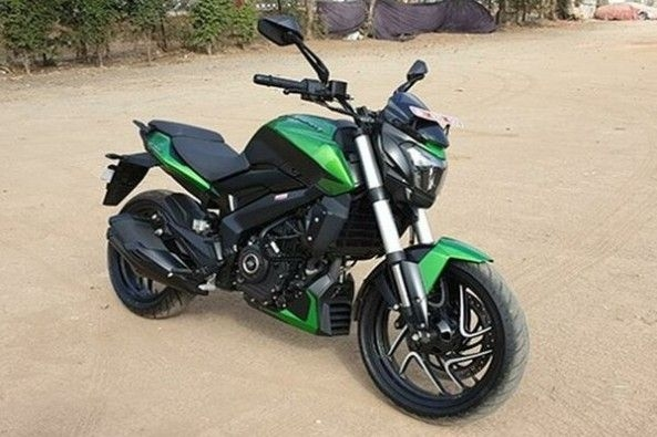 Green Color Bajaj Dominar Front Profile