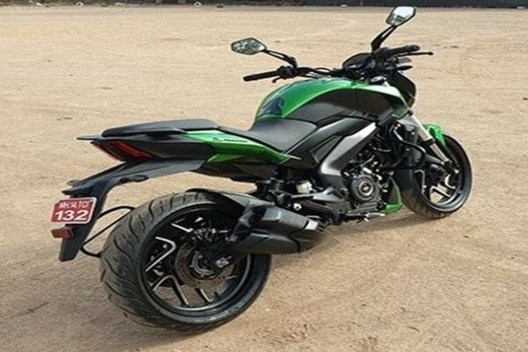 Green Color Bajaj Dominar Rear Profile