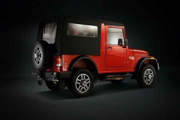 Red Color Mahindra Thar Side Profile