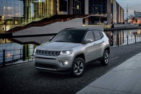 Grey Color Jeep Compass Front Profile