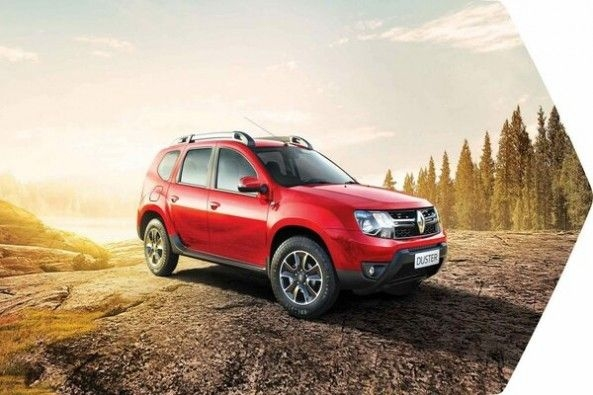 Red Color Renaultb Duster Side Profile