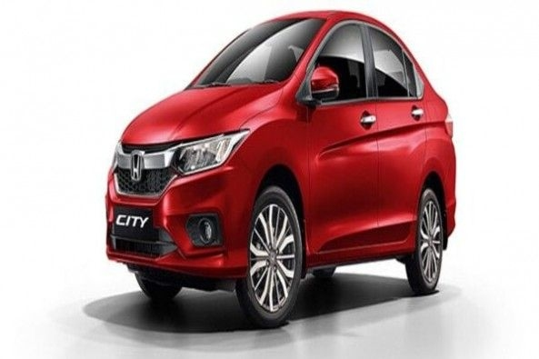 Red Color Honda City Front Profile