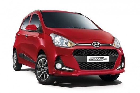 Red Color Hyundai Grand i10 Front Profile