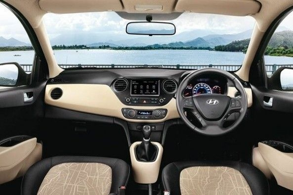 Red Color Hyundai Grand i10 Interiors
