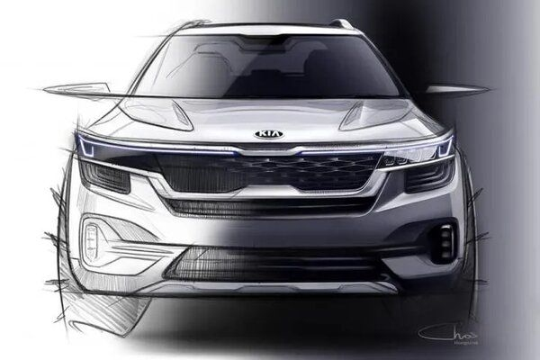 Kia Releases New Sketches of Upcoming SP2i SUV in India