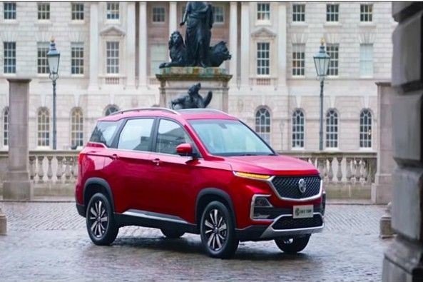 Red Color MG Hector Side Profile