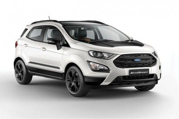White Color Ford EcoSport Front Profile