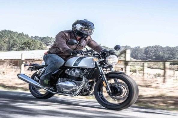 Royal Enfield Continental GT Side Profile With Driver