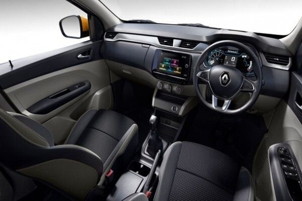 Renault Triber Front Seats and Steering Wheel