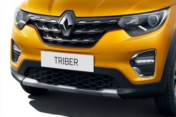 Yellow Color Renault Triber Front Grille and Headlights