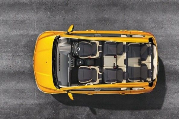 Yellow Color Renault Triber Seat Layout