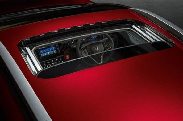 Red Color Honda WR-V Electric Sunroof