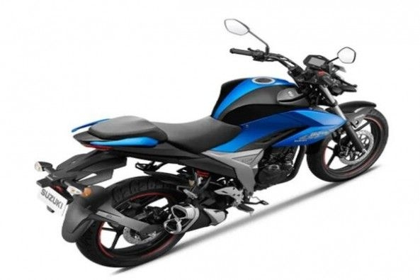 Blue Color Suzuki Gixxer Rear Profile