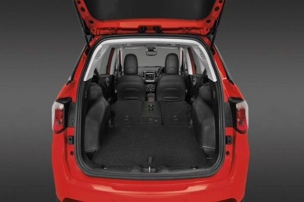 Red Color Jeep Compass Boot Space