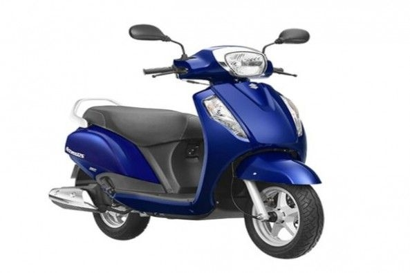 Blue Color Suzuki Access Side Profile