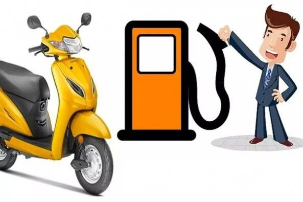 Graphic Representation of Petrol Pump Machine With Scooter