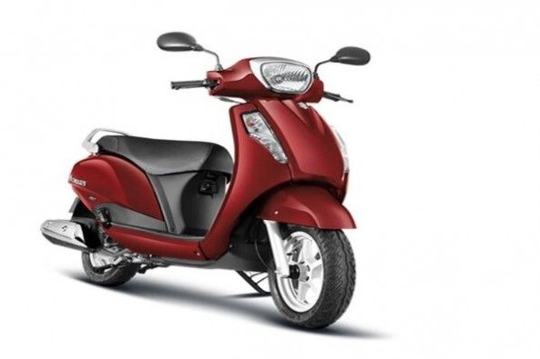 Brown Color Suzuki Access Side Profile