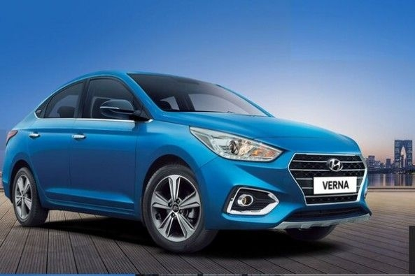 Blue Color Hyundai Verna Side Profile