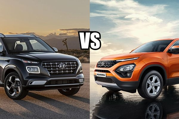 Hyundai Venue vs Tata Harrier Comparison