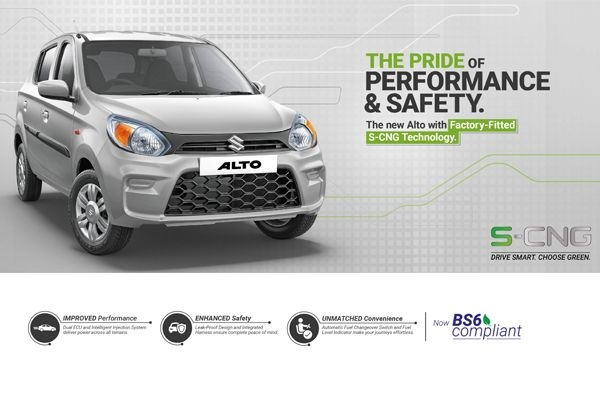 Maruti Suzuki Alto BS6 S-CNG Launched at Rs 4.32 Lakhs in India