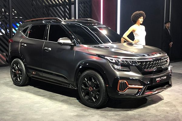 Kia Seltos X-line showcased at the Auto Expo 2020