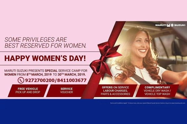 Maruti Suzuki to organise Special Service Camp on Women's Day