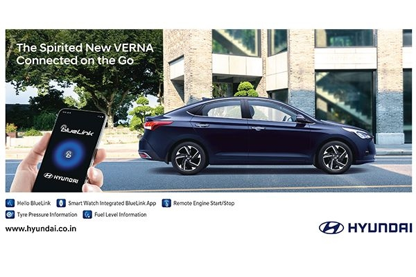 2020 New Hyundai Verna to Feature Advanced Blue Link Technology