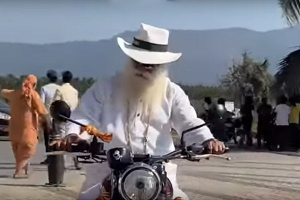 Sadhguru Takes Jawa 42 For A Ride