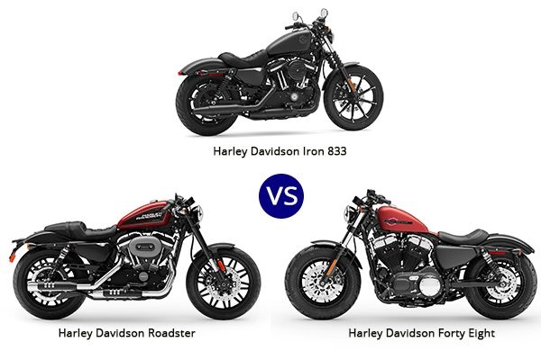 Harley Davidson Forty-Eight vs Iron 833 vs Roadster: Comparison