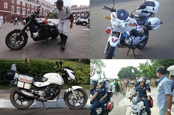 Bikes Used by India Police Force