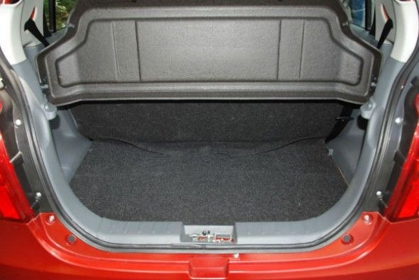 Boot space is just 177 litres.