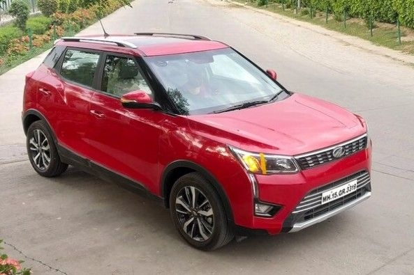 Red Color Mahindra XUV300 Top Profile