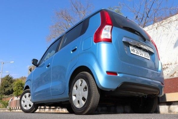 Blue Color Maruti Suzuki WagonR Rear Profile