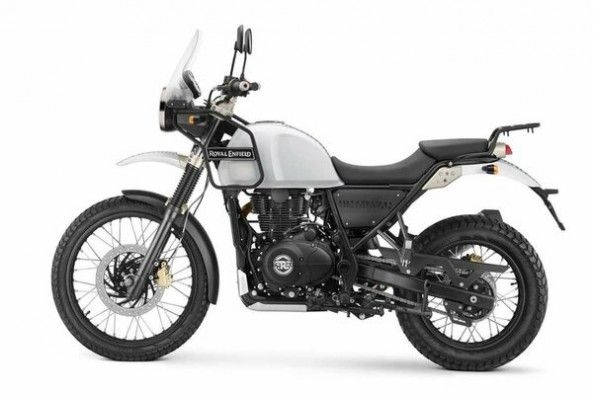 White Color Royal Enfield Himalayan Side Profile
