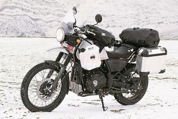 White Color Royal Enfield Himalayan Front Profile
