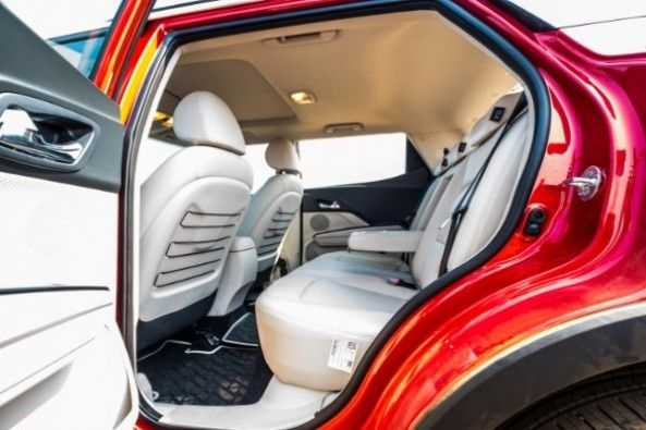 The rear seats are spacious and comfortable for 3 passengers