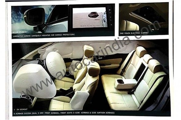 Honda City Varient Spied Interior