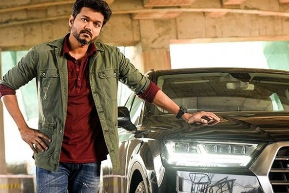 Vijay's character is spotted driving an Audi Q7