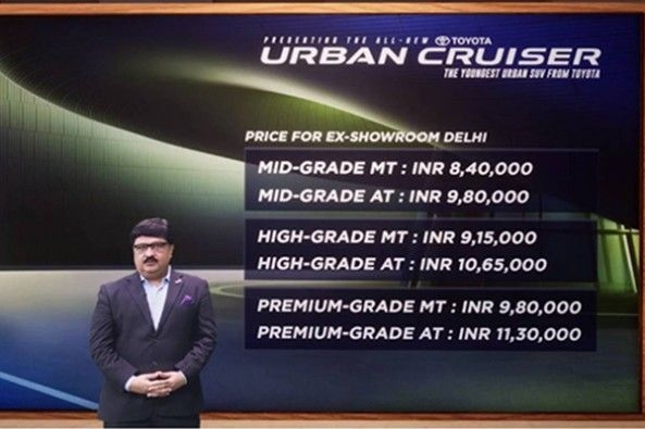 Toyota Urban Cruiser Launched Price List